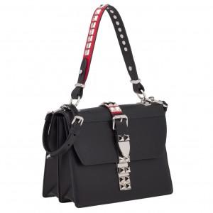 Prada Elektra Shoulder Bag In Black Calfskin