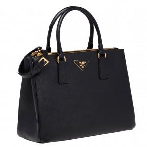 Prada Galleria Medium Bag In Black Saffiano Leather