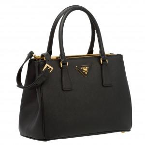 Prada Galleria Small Bag In Black Saffiano Leather