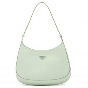 Prada Cleo Small Shoulder Bag In Aqua Brushed Leather