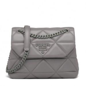 Prada Small Spectrum Bag In Grey Nappa Leather