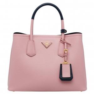 Prada Bicolor Double Medium Pink Saffiano Bag