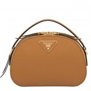 Prada Odette Camel Saffiano Leather Bag