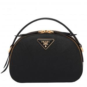 Prada Odette Black Saffiano Leather Bag