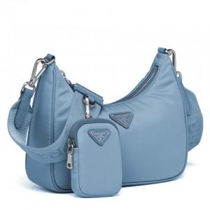 Prada Blue Nylon Re-Edition 2005 Shoulder Bag