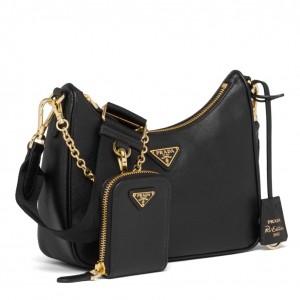 Prada Re-Edition 2005 Shoulder Bag In Black Saffiano Leather