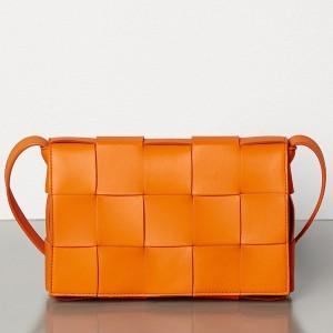 Bottega Veneta Cassette Bag In Orange Lambskin