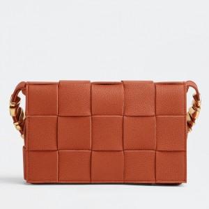 Bottega Veneta Cassette Bag In Maple Grained Leather