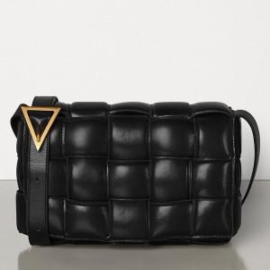 Bottega Veneta Padded Cassette Bag In Black Calfskin