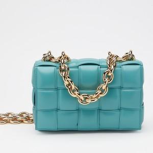 Bottega Veneta Chain Cassette Bag In Linoleum Calfskin