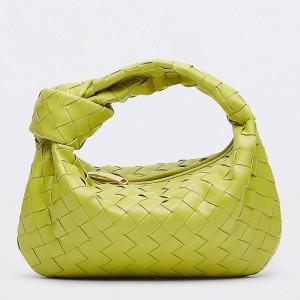 Bottega Veneta Mini BV Jodie Bag In Kiwi Woven Leather