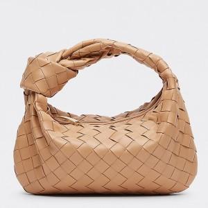 Bottega Veneta Mini BV Jodie Bag In Sandalwood Woven Leather