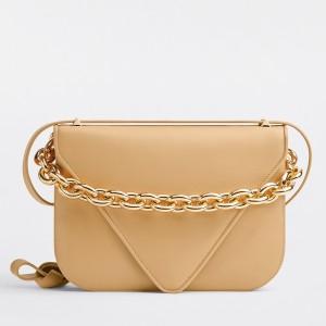 Bottega Veneta Mount Small Bag In Almond Calfskin