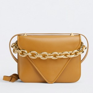 Bottega Veneta Mount Small Bag In Yellow Calfskin
