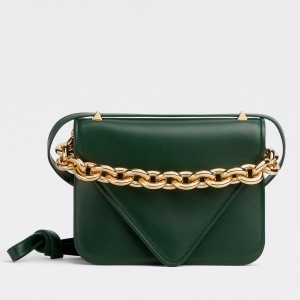 Bottega Veneta Mount Small Bag In Green Calfskin