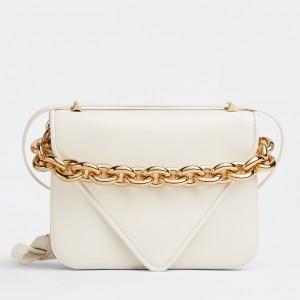 Bottega Veneta Mount Small Bag In White Calfskin