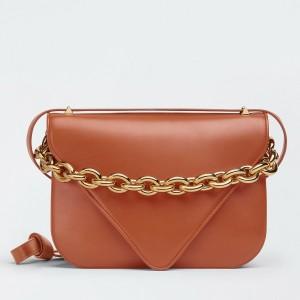 Bottega Veneta Mount Medium Envelope Bag In Maple Calfskin