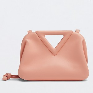 Bottega Veneta Small Point Top Handle Bag In Peachy Leather