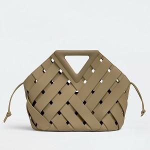 Bottega Veneta Medium Point Bag In Taupe Intrecciato Leather