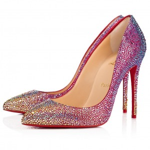 Christian Louboutin Red Kate Strass Degrade Pumps 100mm
