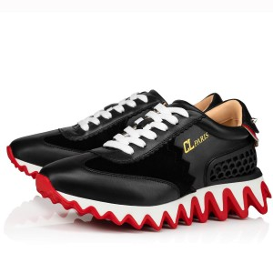 Christian Louboutin Women's Black Loubishark Sneakers