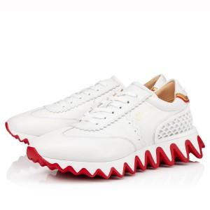 Christian Louboutin Women's White Loubishark Sneakers