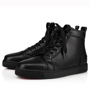 Christian Louboutin Black Louis Woman High-Top Sneakers