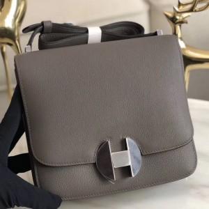 Hermes 2002 20cm Bag In Etain Evercolor Calfskin