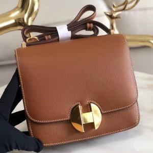 Hermes 2002 20cm Bag In Gold Evercolor Calfskin