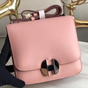 Hermes 2002 20cm Bag In Rose Sakura Evercolor Calfskin