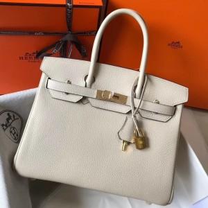 Hermes Beton Clemence Birkin 35cm Bag