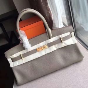 Hermes Grey JPG Birkin 42cm Shoulder Bag