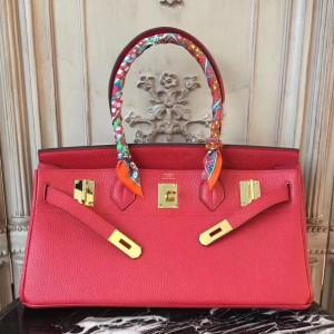 Hermes Red JPG Birkin 42cm Shoulder Bag