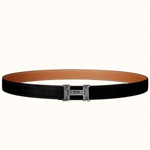 Hermes Mini Constance Belt Buckle & Black Swift 24MM Strap