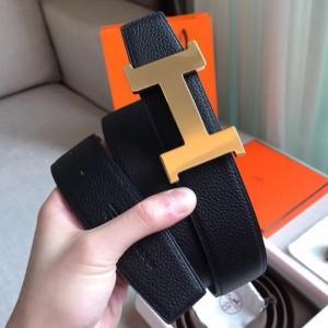 Hermes Constance Belt Buckle & Black Clemence 38 MM Strap