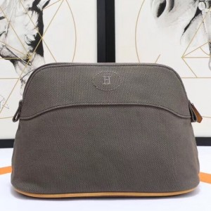 Hermes Medium Bolide Travel Case In Taupe Cotton