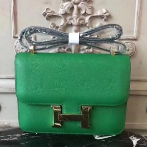 Hermes Bamboo Constance MM 24cm Epsom Leather Bag
