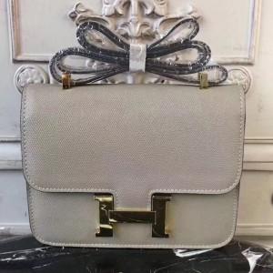 Hermes Grey Constance MM 24cm Epsom Leather Bag