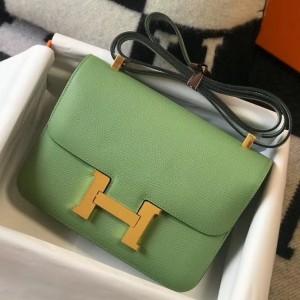 Hermes Epsom Constance 24cm Vert Criquet Handmade Bag