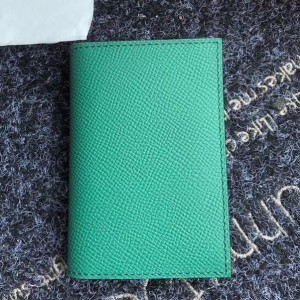 Hermes MC² Euclide Card Holder In Green Epsom Leather