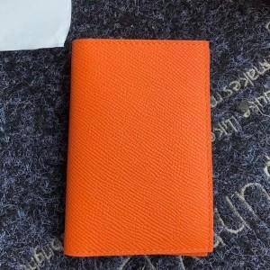 Hermes MC² Euclide Card Holder In Orange Epsom Leather