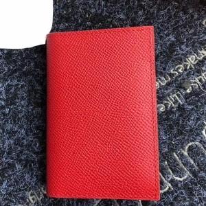 Hermes MC² Euclide Card Holder In Red Epsom Leather