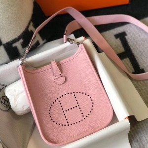 Hermes Evelyne III TPM Bag In Pink Clemence Leather