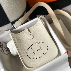 Hermes Evelyne III TPM Bag In Beton Clemence Leather