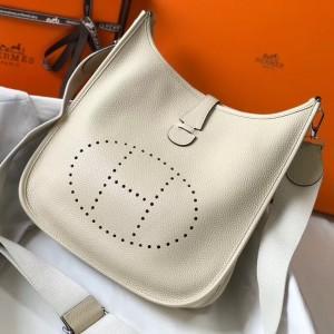 Hermes Evelyne III 29 Bag In Craie Clemence Leather