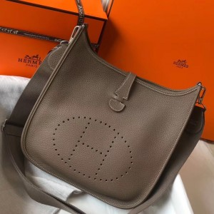 Hermes Evelyne III 29 Bag In Taupe Clemence Leather