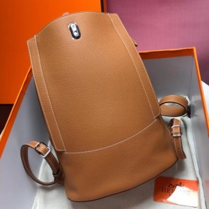 Hermes GR24 Backpack In Gold Everycolor Calfskin