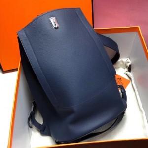 Hermes GR24 Backpack In Navy Everycolor Calfskin