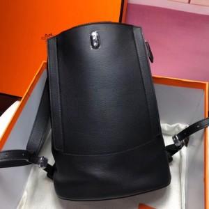 Hermes GR24 Backpack In Black Everycolor Calfskin