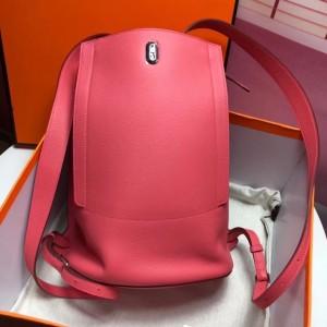 Hermes GR24 Backpack In Pink Everycolor Calfskin